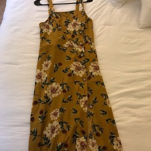 Yellow floral long dress
